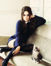 Mila Kunis and cat